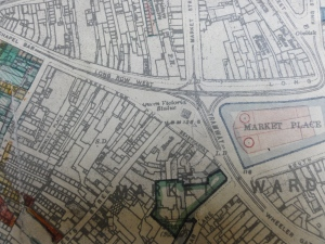 Map of Nottingham city centre 1949