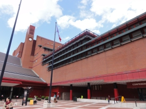The British Library external shot across plaza