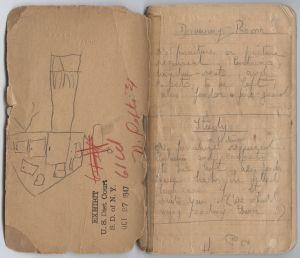 Daphne DuMaurier 'Rebecca' notebook