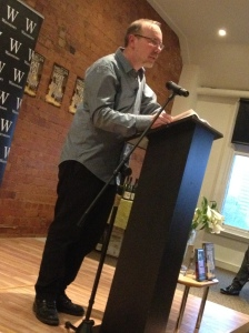 David Belbin talking at Waterstones Nottingham.