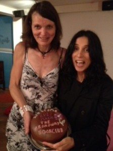 Wendy (one of the book club members) with author Eve Makis