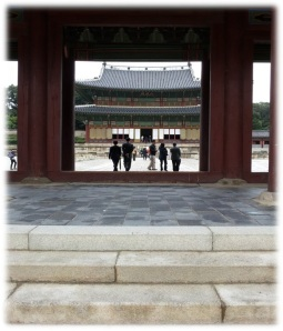 Close up of main entrance to the Changdeokgung Palace Complex.