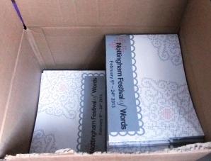 Breaking open the box of event brochures
