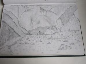 Andy's sketchbook of Kahli Gadanki, Nepal.