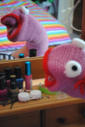 Emily has been known to use Sock Puppets while promoting her work