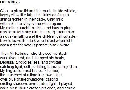 Openings Poem