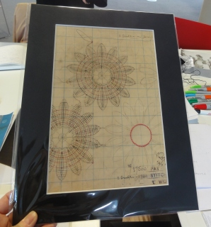 An original lace design from the Lace Archive of Nottingham Trent University