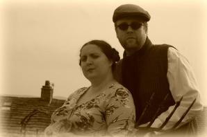 The Oldhams exuding wartime spirit.