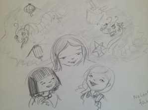Sketches of 'Lulu Bell' characters