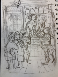 Sketch for Mrs. Organ-Morgan's shop
