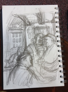 Sketch for the characters inhabiting the pub