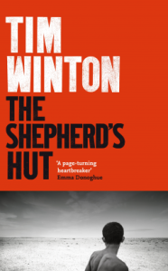 Book cover of The Shepherd's Hut. Picture of boy looking out over vast salt plain