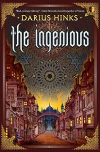 Book cover of The Ingenious, with a row of large terraced houses either side of a street leading to a blue majestic building in the distance.