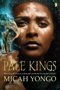 Book cover for Pale Kings. Picture of woman holding staff.