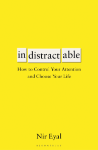 Book cover of indistractable